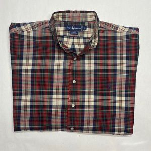 RALPH LAUREN size L BLAIRE CASUAL BUTTON DOWN